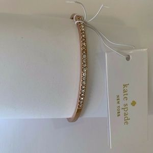 Kate Spade Rose Gold Thin Bar Open Cuff Bracelet